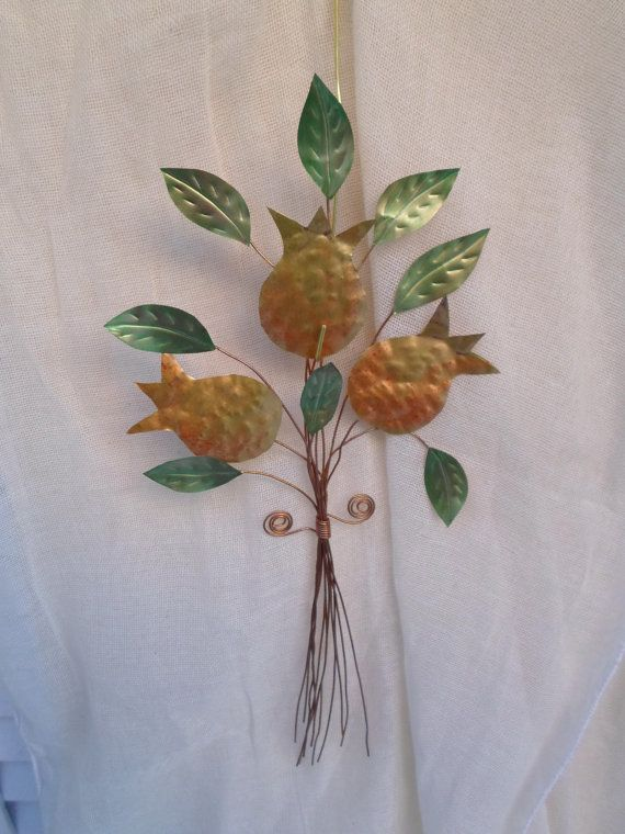 bouquet of pomegranates / metal work /wall hanging bouquet