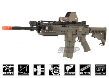 Lancer Tactical M4 S-System AEG Airsoft Gun (Dark Earth) $120