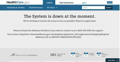 2013, Healthcare.gov, Obamacare