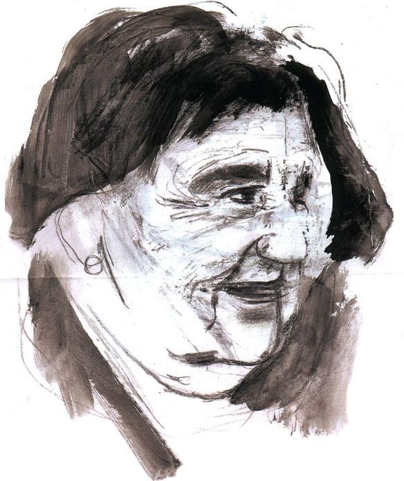 ALDA MERINI -  ritratto dipinto da Francesco Santosuosso