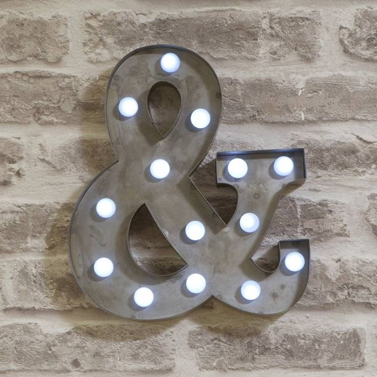 Spell out any name or phrase with these fabulous Vegas Metal LED Circus Letter Lights. A new take on the popular Vegas Lights, these miniature versions are much more versatile and easy to display.