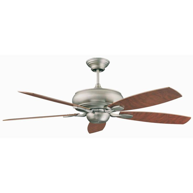 "Concord Fans Contemporary 60"" Roosevelt Satin Nickel Large Ceiling Fan"