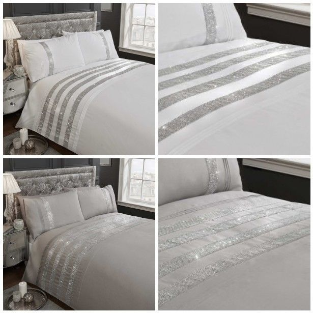 Rapport Home Carly Diamante Duvet Cover Sets - Single Double King Sizes #RapportHome #Contemporary