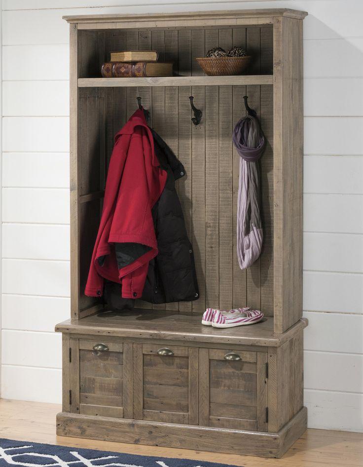 oldbrick furniture. jofran slater mill pine hall tree made of reclaimed old brick furniture oldbrick