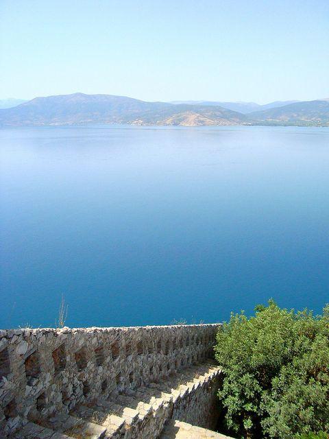 Nafplio, Greece    The Argolic Gulf seen from the Palamidi Castle.