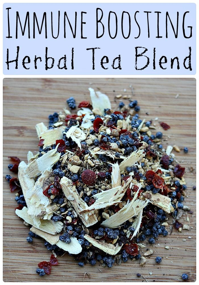 Make this immune boosting herbal tea blend to have on hand whenever you start feeling sick. It makes a tasty yet healing herbal hot tea!