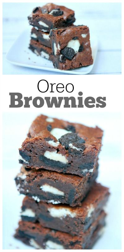 Oreo Brownies : The most delicious super fudgy (but sturdy) brownie recipe you've ever eaten with Oreo chunks swirled in.  Seriously the best brownie recipe ever!