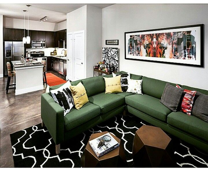 I want this green sectional | Two bedroom floor plan ...