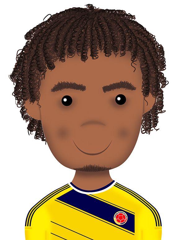 Juan Guillermo Cuadrado Selección Colombia Ilustración by Maria Andrea Rodriguez, via Behance