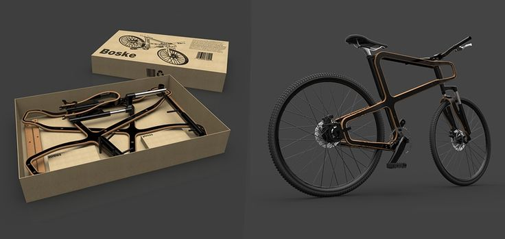 Boske wooden bike : un vélo à monter soi-même, conçu à partir de bois et de canettes