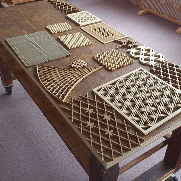 KUMIKO RAMMA SCREEN Japanese Traditional Hand Crafted Wood Screen