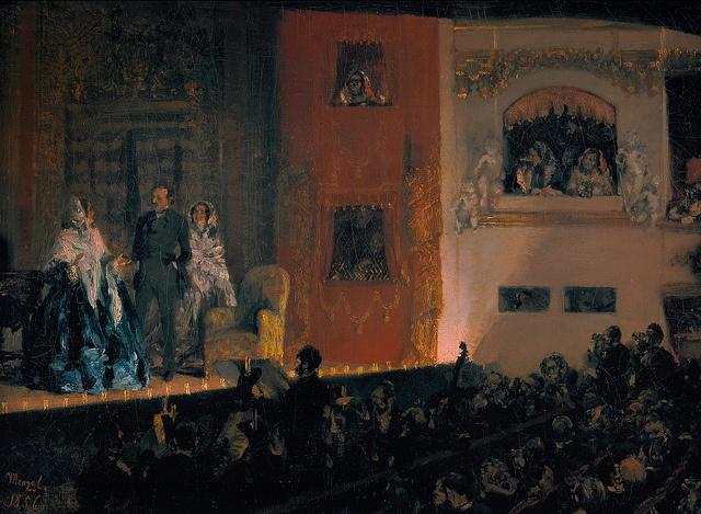 Adolph Menzel - Theatre du Gymnase, Paris [1856]
