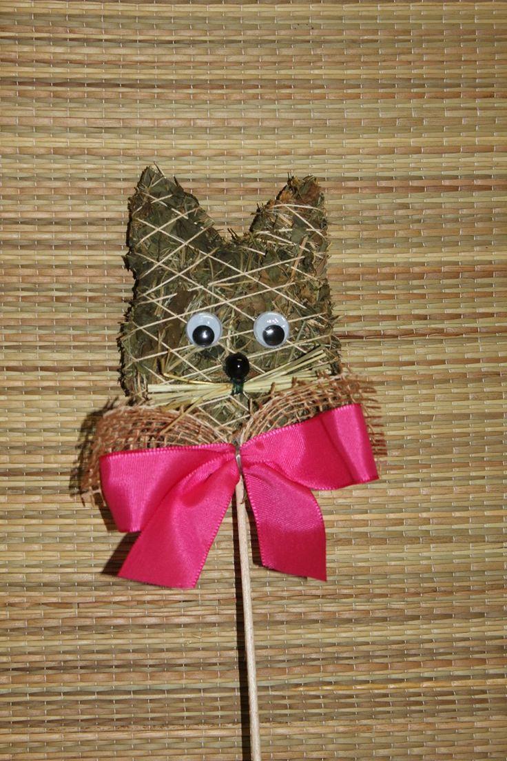 Zápich Kočička Zápich ze sena -kočička,v.10cm