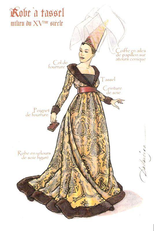 La robe à Tassel ou robe Bourguignone                                                                                                                                                                                 Plus