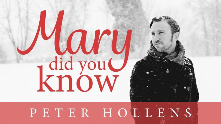 Check out this terrific brand new Christmas music video by @PeterHollens  -  Mary, Did You Know? - Peter Hollens