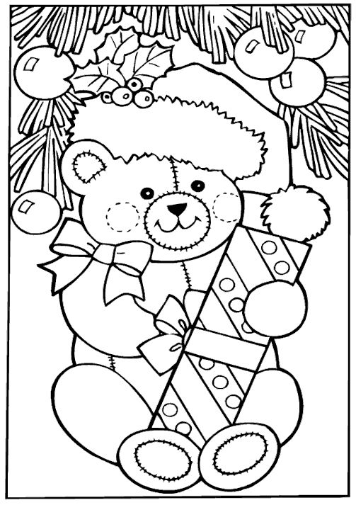 coloring pages for kids christmas free christmas coloring page christmas bear