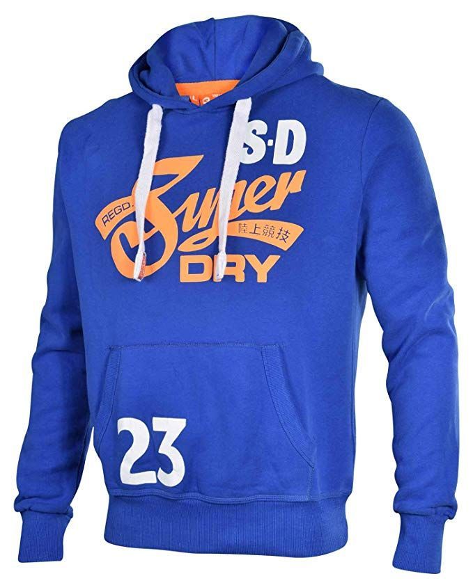Affiliate Superdry Men S Cali Tails Entry Pullover Hoodie Dodger Blue Xl