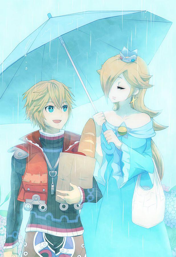 Shulk and Rosalina - Super Smash Bros via pixiv
