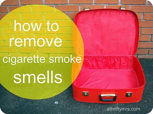 how to remove cigarette smoke smells by athriftymrs.com, via Flickr