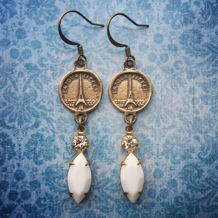 Paris Souvenir Earrings by Silver Trumpet Jewelry on Etsy