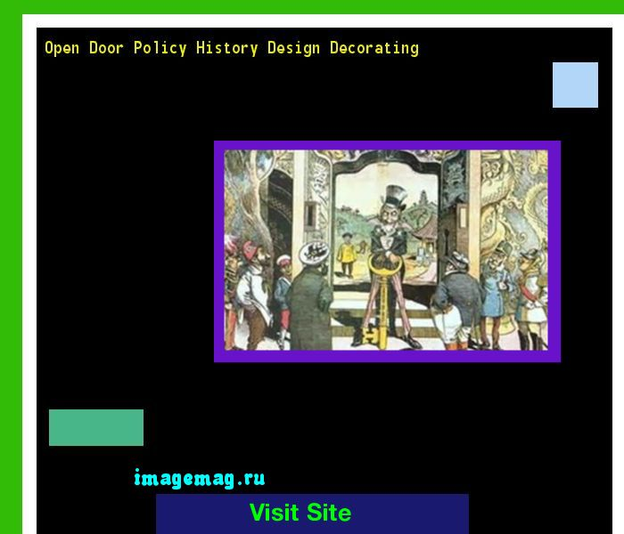 Open Door Policy History Design Decorating 122837 - The Best Image Search