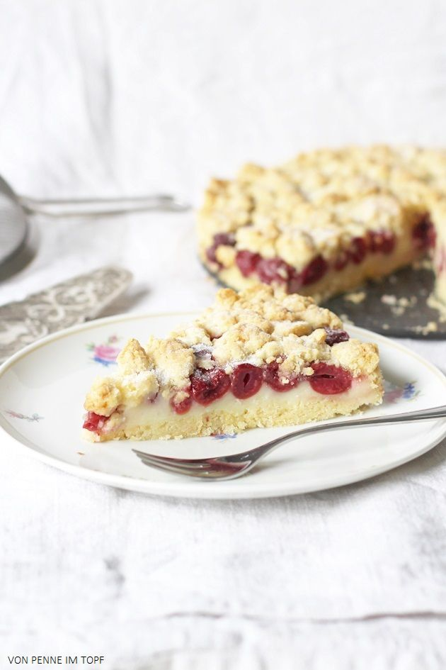 Pudding - Kirsch - Streuselkuchen