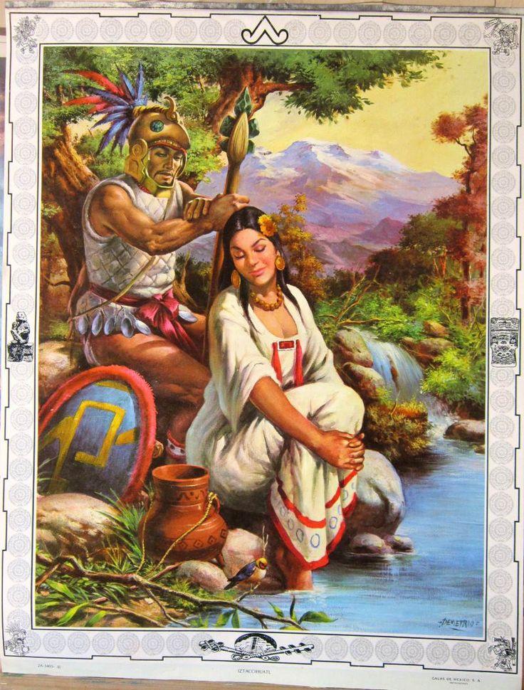 Vintage Mexican Calendar Art : Iztaccíhuatl calendarios quot galas de méxico litografías