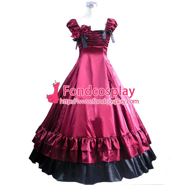 Alibaba グループ | AliExpress.comの 服 からの 含めた:赤いサテンのドレスをが黒いサテンのドレス 余分な出費: アンダースカート49.9us$   私たちのほとんどのモデルのデザインフォローコミック- 数値またはとまた、 あなた 中の 送料無料ゴシック ロリータ パンク中世ガウン深紅と黒ボール長い イブニング ドレス ジャケット オーダー メイド
