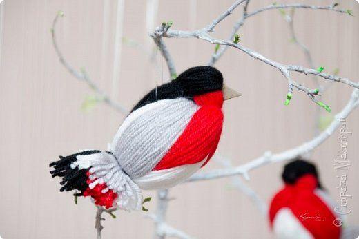 МК птичек в интернете уже много, но покажу свой вариант снегиря с белым брюшком. фото 1