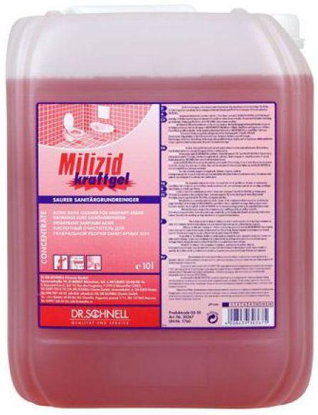Milizid Kraftgel este recomandat pentru curatenia de baza in spatiile sanitare si adecvat spatiilor umede. Acesta este special conceput pentru indepartarea murdariei minerale grele, cum ar fi rugina si urina petelor de ulei/ contaminare unsoare.