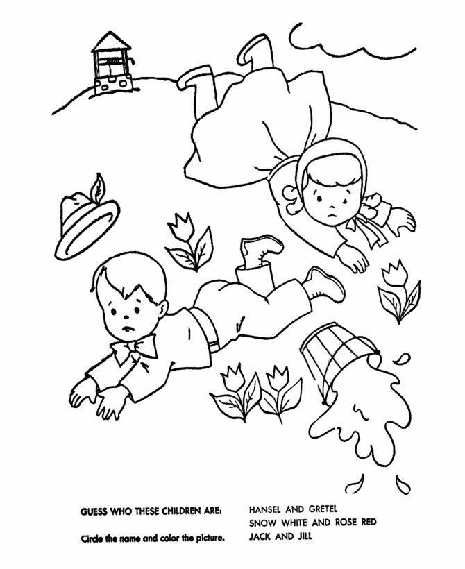 jack and jill coloring pages - 61 best transfer designs images on pinterest nursery