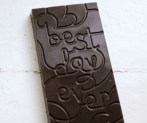 Best day ever: Favors, Idea, Food, Anniversaries Gifts, Chocolates Bar, Holidays Gifts, Design Studios, Chocolates Typography, Typographic Design