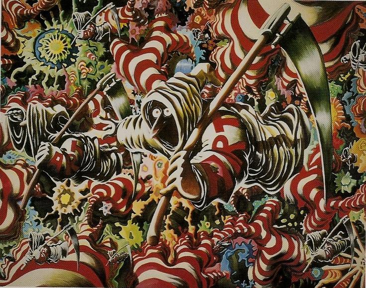 """The Adventures of Art"" by Danish artist Martin Bigum"