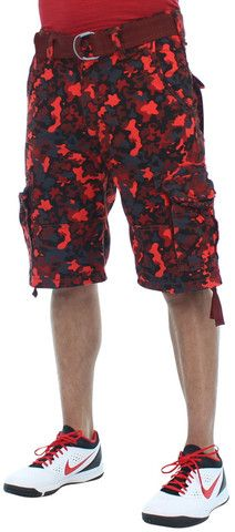 Red Camo Shorts