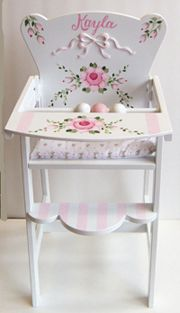 hand painted doll high chair