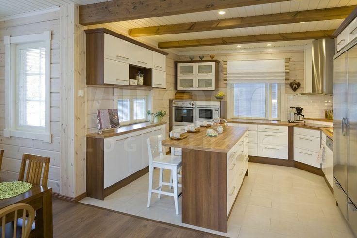 #cocina #casa de #madera Kuusamo Log Houses modelo KU227