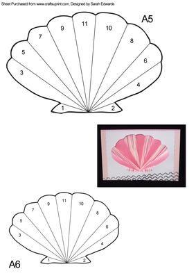 Sea Shell Iris Folding Pattern