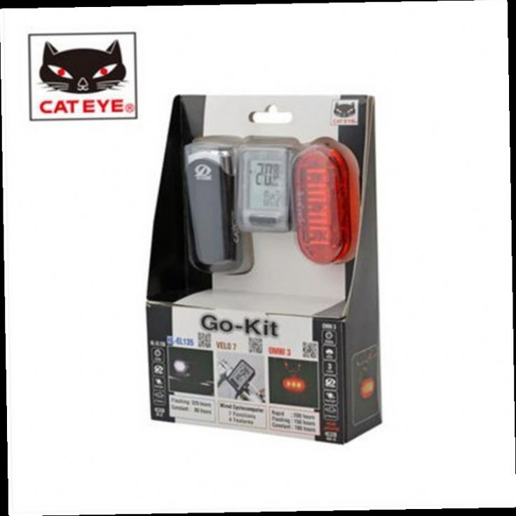 48.99$  Buy now - http://aliiby.worldwells.pw/go.php?t=32777269159 - CATEYE bicycle computer bike front rear light fitting equipment accessories HL-EL135+OMNI3+VELO7 48.99$