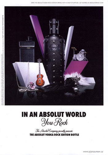 Absolut Vodka - Limited Edition: Absolut Rock edition (2010)