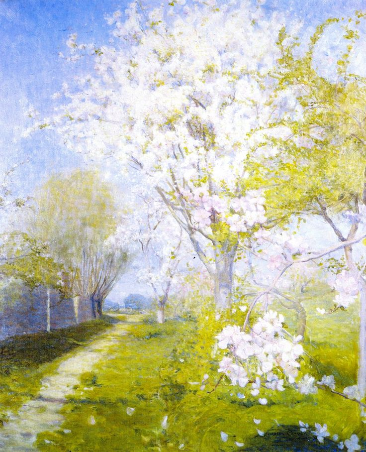 Blossom at Dennemont - Charles Conder - 1893 oil on canvas   # Pinterest++ for iPad #