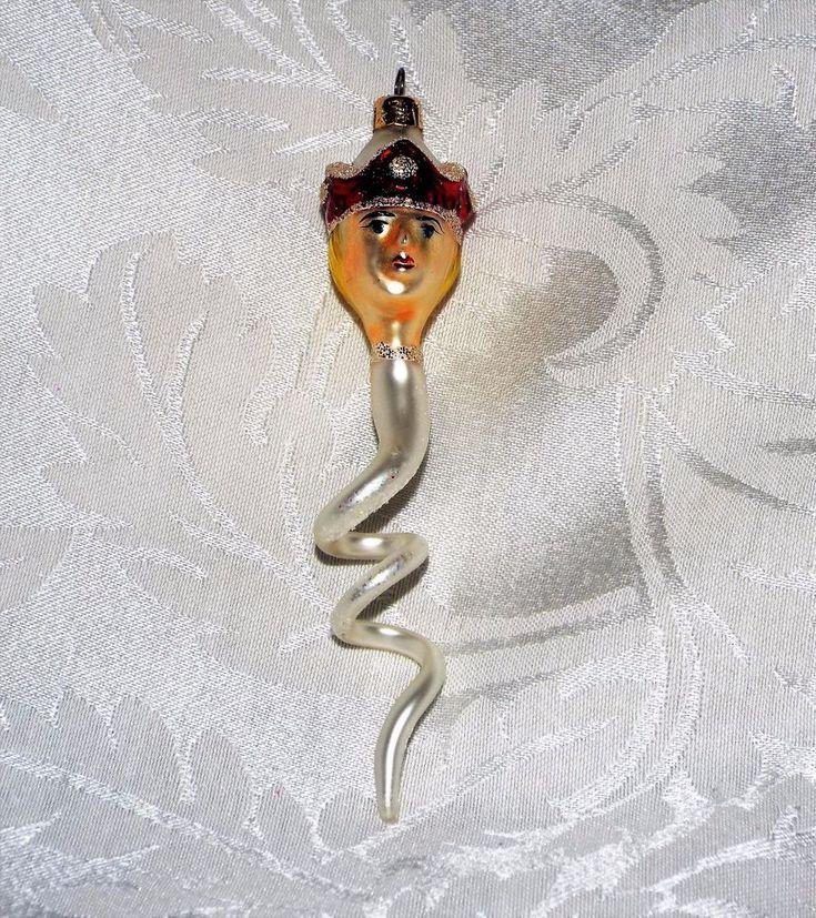 "CHRISTOPHER RADKO PRINCE SNAKE ORNAMENT, Retired 1992 Prince Swirl Tree Decor 5"""