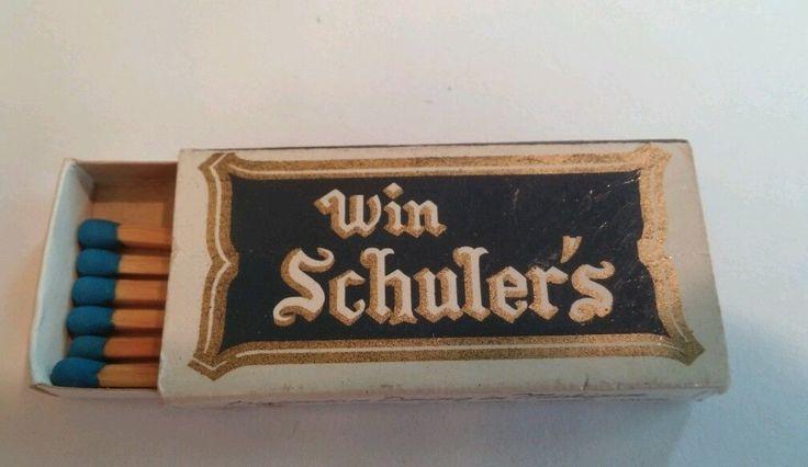 Win Schuler Matchbook