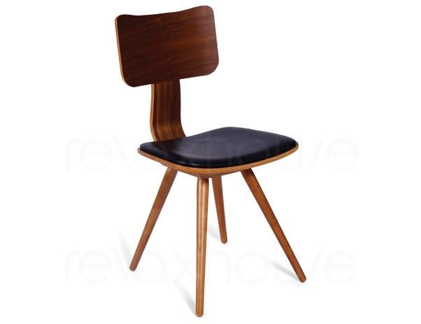 Walnut Danish Retro Designer Chair