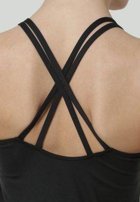 Bestill Reebok Sports-BH - black/black for kr 319,00 (19.01.16) med gratis frakt på Zalando.no