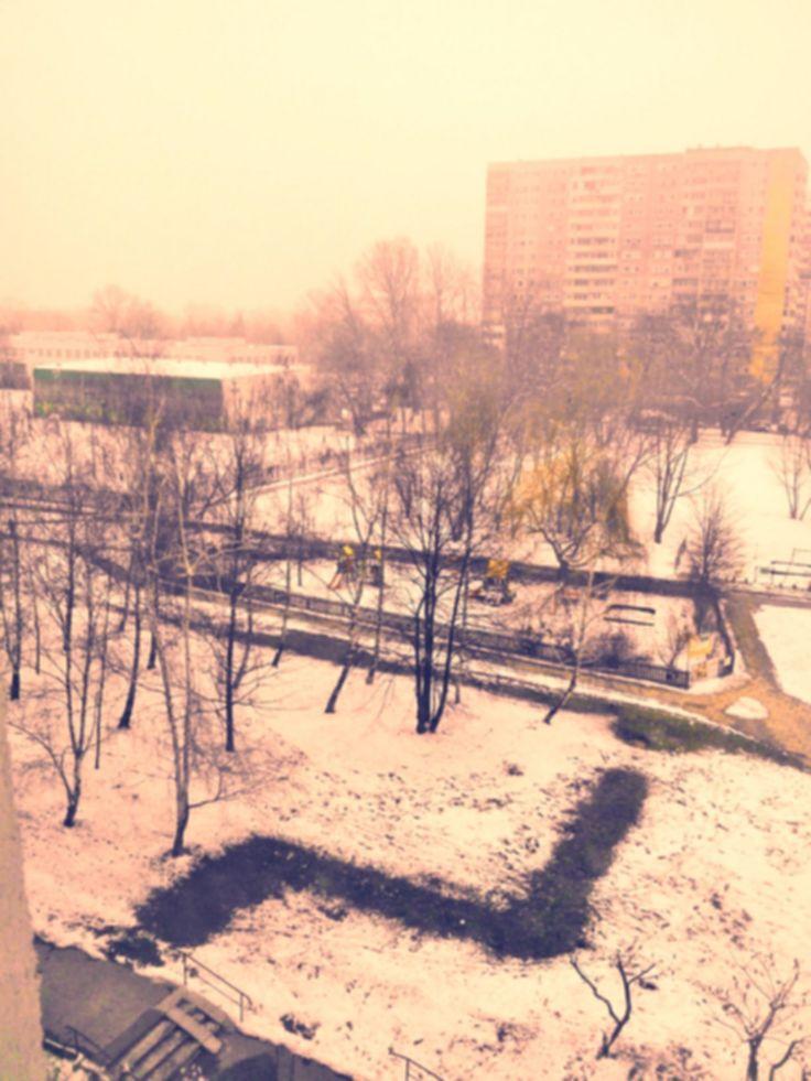 Długo wyczekiwana zima na jednym z warszawskich osiedli