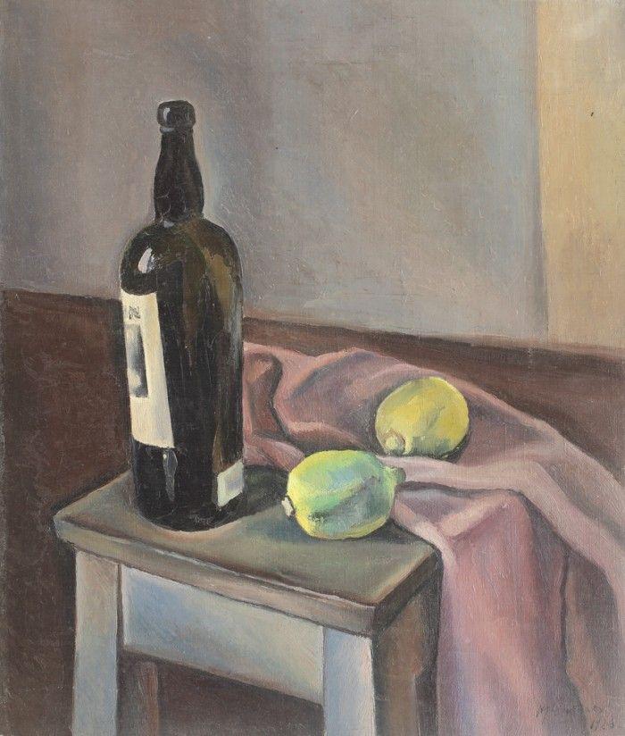 Henri H. Catargi, Natură statică cu sticlă de vin şi lămâi