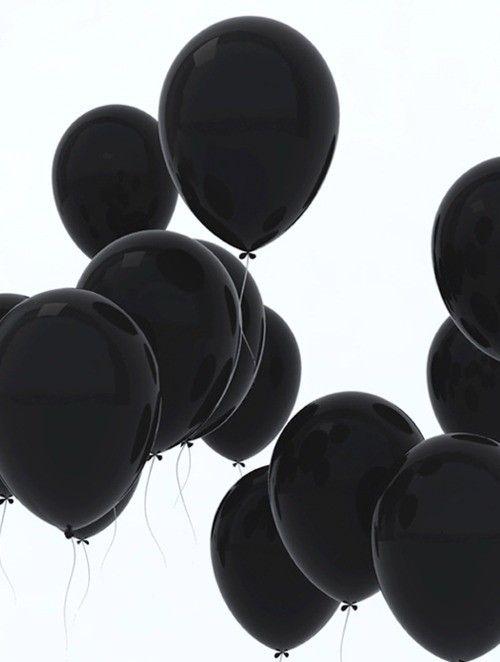 cool black balloons