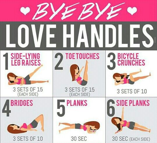 Love handles work out for beginners
