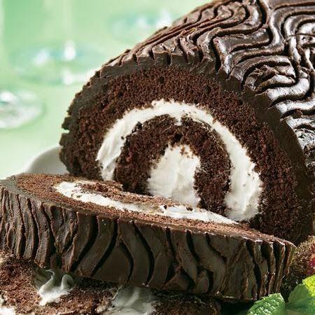 Yule log cake uses cake mix.