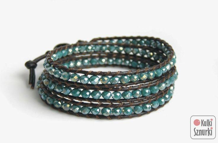 www.facebook.com/kulkisznurki  Wrap bracelets on leather.